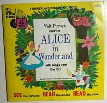 ALICE IN WONDERLAND (1965) Disneyland book & 33-1/3 rpm record - $9.89