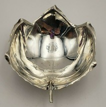 Beautiful Vintage Sterling Silver Sciarrotta Handmade Footed Leaf Bowl  #6972 - $175.00