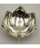 Beautiful Vintage Sterling Silver Sciarrotta Handmade Footed Leaf Bowl  ... - $175.00