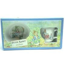 Wedgwood Peter Rabbit cup bowl set Beatrix Potter 1991 nib box England mug dish - $33.66