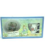 Wedgwood Peter Rabbit cup bowl set Beatrix Potter 1991 nib box England m... - $33.66