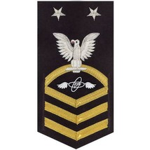 NAVY E9 MALE RATING BADGE: AVIATION ELECTRONICS TECHNICIAN(AT) -VANCHIEF... - $52.45