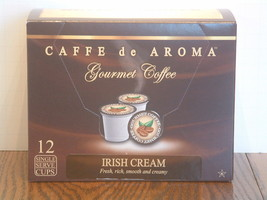 Caffe de Aroma Flavored Irish Cream Coffee 12 Single Serve K-Cups Free S... - $9.99