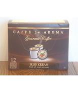 Caffe de Aroma Flavored Irish Cream Coffee 12 Single Serve K-Cups Free S... - $10.45