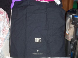 "FRYE Drawstring Dust Bag  Black with Gold Logo 21x23"" - $16.33"