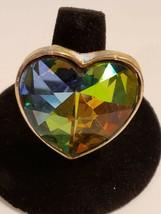 Goldtone Multicolor Faceted Rhinestone Ring Fun Fashion Costume Jewelry ... - $8.99