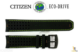 Citizen Eco-Drive AT7035-01E 23mm Black Leather Watch Band W760-S079888 - $94.95