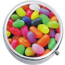 Colorful Jelly Beans Candy Medicine Vitamin Compact Pill Box - $9.78