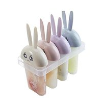 DIY Ice Cream Mold Household Popsicle Ice Lolly Mold, Little Rabbit Four... - $11.74