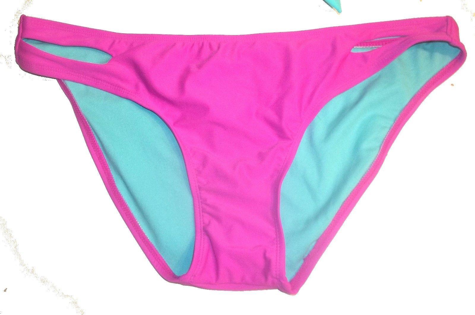 eb3e61859eb7e Sz M/XL - NWT Xhilaration Hot Pink & Mint Green Molded Push Up Bikini