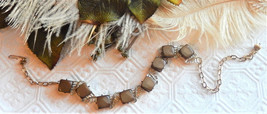 Vintage Moonglow Thermoset Gold Brown Necklace - $28.50