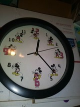 Micky Mouse Clock 11 Inch Wall Hanging - $34.49