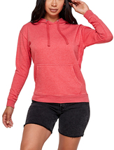 Women's Soft Lightweight Pull Over Sweatshirt Casual Drawstring Hoodie Sweater image 3