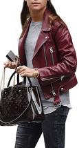 Jason Bourne Heather Lee Alicia Vikander Maroon Leather Jacket image 2