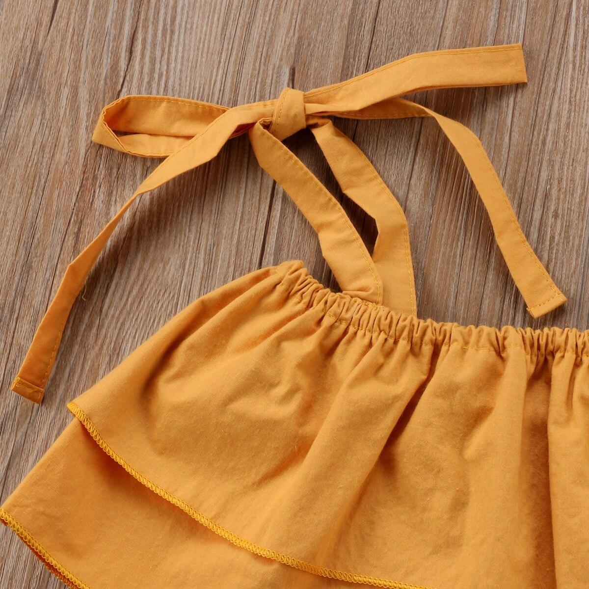 Summer Toddler Baby Kids Girls Sister Clothes Sets Strap Tops Sleeveless Vest Fl image 3