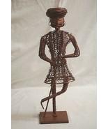 Vntage Turkish Ottoman Man Metal Wire Frame Artisan Statue Figurine Man ... - $74.24