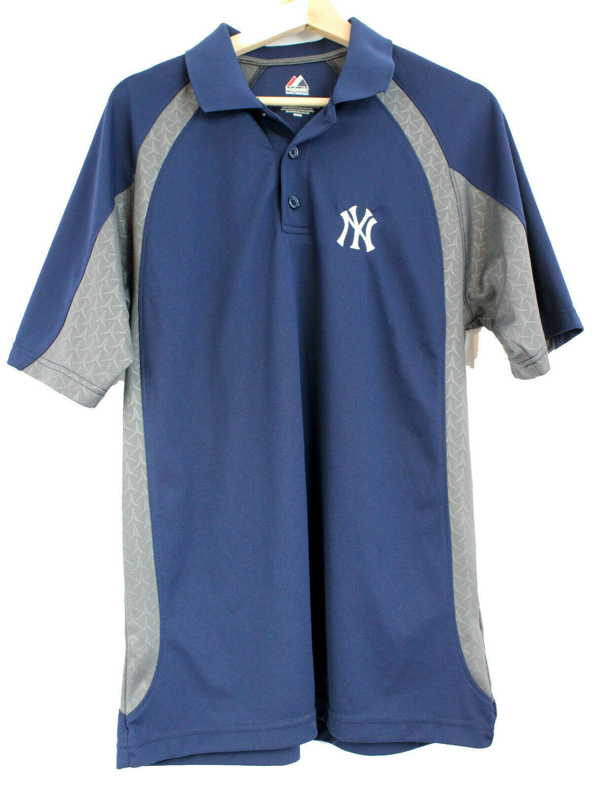 Primary image for Majestic New York Yankees Men's Cool Base Golf Polo Shirt Navy Blue Size Medium