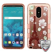 Eiffel Tower Blooming/Rose Gold TUFF Hybrid Cover for LG Stylo 4 Plus/St... - $14.56
