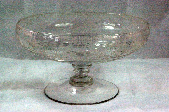 Cambridge 1930 The Hunt Pattern 1402 Clear Footed Bowl - $138.59
