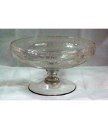Cambridge 1930 The Hunt Pattern 1402 Clear Footed Bowl - $125.99