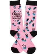 Queen Of Damn Near Everything Socks Pink Black - $10.95