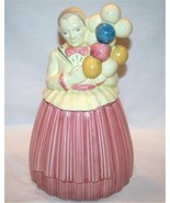 Vintage POTTERY GUILD OF AMERICA Balloon Lady Cookie Jar M74 - $80.00