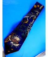 WWF World Wildlife Fund Coral Reefs 100% Silk Neck tie Made in USA 1993 ... - $10.88