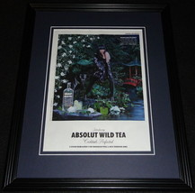 2011 Absolut Wild Tea 11x14 Framed ORIGINAL Vintage Advertisement - $32.36