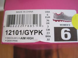 "BNIB Skechers® Women's ""Skech-Air 2.0"" Aim High Training Shoes, grey/pink, $85 image 6"