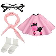 Girls 1950s Costume Accessory Set - Poodle Skirt, Chiffon Scarf, Cat Eye... - $33.45