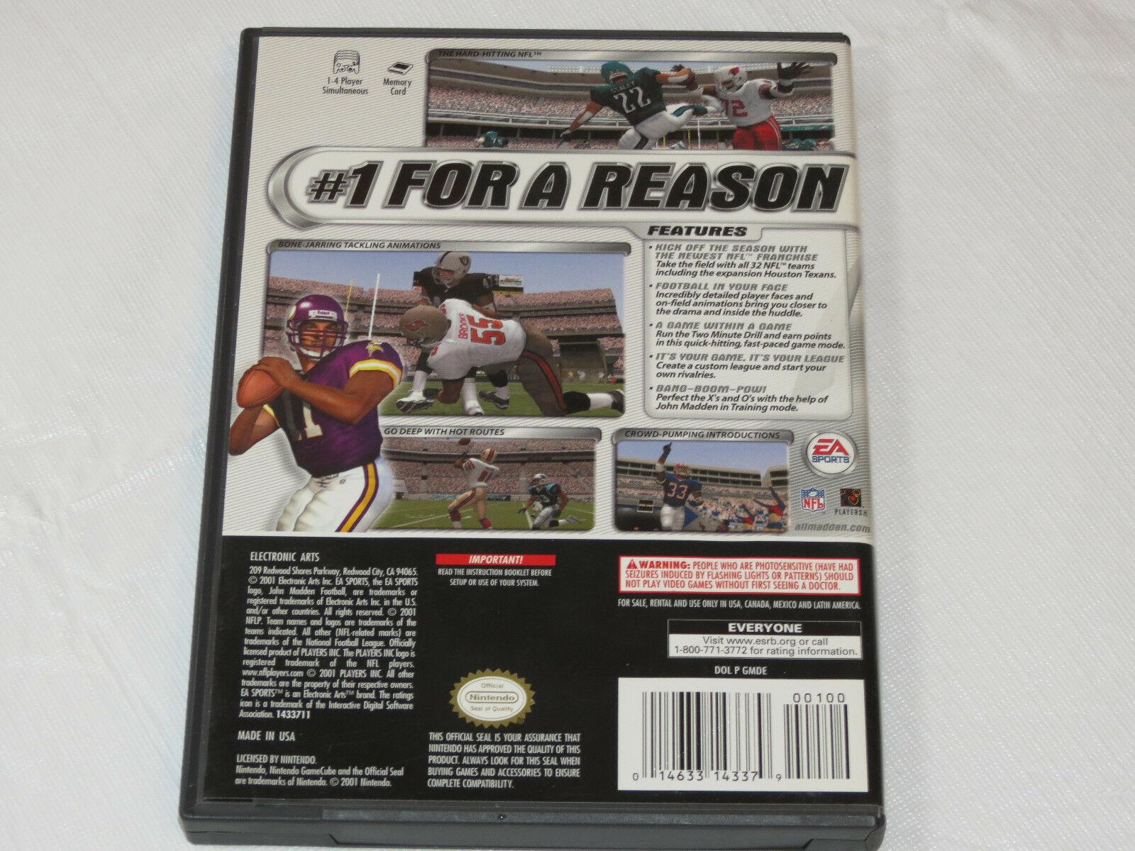 Enloquecer NFL 2002 Nintendo Gamecube 2001 Fútbol Videojuego E-Everyone 25481 image 3
