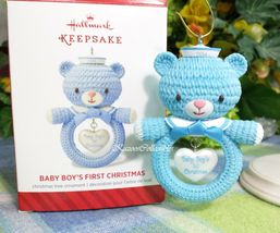 Hallmark Baby's First Christmas Boy Blue Bear ornament 2014 - $2.96