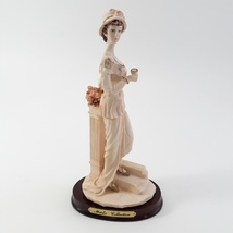 Marlo Collection by Artmark Lady Figurine Cup in hand Standing on Step image 1