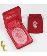 """Waterford Crystal Ornament with Velvet Case & Pouch """"Baby's First Christ... - $59.36"""