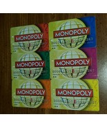 2008  Monopoly Here & Now World Collectors Game 6 Player Money Cards Only - $8.17
