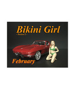 February Bikini Calendar Girl Figure for 1/18 Scale Models by American D... - $17.14