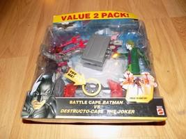 Battle Cape Batman Vs Destructo Case The Joker Action Figure 2 Pack Accessories - $22.00
