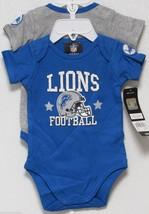 Nfl Nwt Infant ONESIE-SET Of 2- Detroit Lions 0-3 Months - $24.95