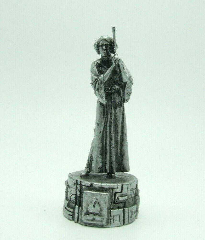 Star Wars Saga Edition Silver Princess Leia Bishop Chess Replacement Game Piece image 8