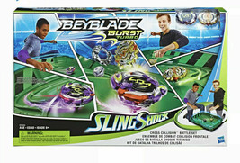 NEW- Beyblade Burst Slingshock Cross Collions Battle Set - $37.99