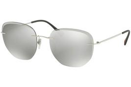 Prada Sport Sunglasses PS50TS 1BC125 Silver Frame W/ Light Grey Mirrored... - $102.36