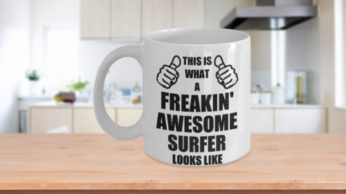 Funny Gifts For Surfer Hubby Wifey Wife Husband Mom Dad Daughter Son Friend Wome