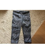 Under Armour Girl's Athletic Capri Pants Size Small Black Gray & White D... - $8.00