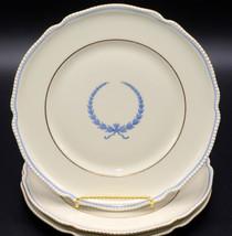 "Rosenthal Empire * 3 SALAD PLATES * 7 7/8"", Blue Wreath, Excellent - $29.99"