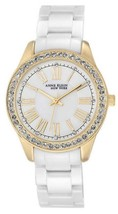 Anne Klein Women's 12/2256GBST Ceramic Gold Tone Watch - $78.21