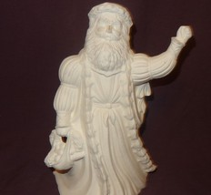 """Santa Claus Father Time 10"""" Ceramic Bisque Ready to Paint Unpainted U-pa... - $18.89"""