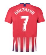Atletico Home #7 GRIEZMANN 2018-19 Men Soccer Jersey Football Shirt New ... - $36.99