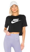 Nike NSW Essential Crop Top Black Heater gray XS S M XL - $29.99