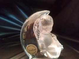 Vintage 1981 Goebel West Germany Lead Crystal Angel on Crescent Moon - $20.00