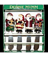 Debbie Mumm Old World Santa Claus Cheese Jam Spreader Knives 4 Different... - $21.99